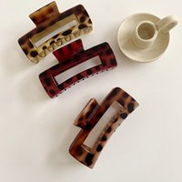 Barrettes Hairpin Korean Version 2021 Net Red Ins Leopard Scratch Clip Temperament Back of Head Simple French Fashion
