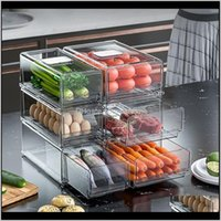 Organización de limpieza Home Gardender Refrigerador Caja de almacenamiento de refrigerador Contenedores de cocina Cabineta de despensa Fruta VEAGATETE PLATIC PLATIC ARTÍPUTOS BO