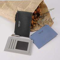 Titulaires de cartes Mini Mini portefeuille Multi-Card Sac Mode PU Fonction Fonction Zipper Ultra-mince Boîte de rangement Student Porte-monnaie