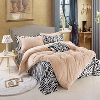 Bedding Sets Zebra Thickened Farley Luxury Set Soft Bedclothes Duvet Quilt Cover Bed Linen Sheet 4 Pieces