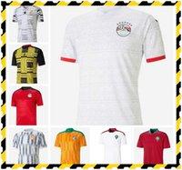 2021 مصر الصفحة الرئيسية Soccer Jersey M. Salah 20 21 Kahraba A. Hegazi Ramadan M.Elneny Cheights قميص كرة القدم