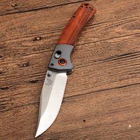 유틸리티 EDC 도구 BM580 벤치 메이드 HK 나이프 나무 손잡이 야외 캠핑 하이킹 전술 전투 사냥 접는 나이프