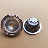 Lampor 1 st 15W Dimmerbar AR111 LED Spotlight Warm Cool Vitlampa Ljus COB QR111 G53 Taklampor DC12V AC85-265V Gratis Shippi
