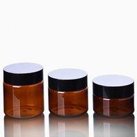 Lagerflaschen Gläser 60ml 100ml 120 ml Gesichtsmaske Nachfüllbare Flasche Pet Kunststoff Aloe Gel Dunkelbraun Kosmetik Augencreme