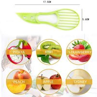 3 In 1 Avocado Slicer Multi-function Fruit Cutter Knife Plastic Peeler Separator Shea Corer Butter Gadgets Kitchen Vegetable Tool CCF6917