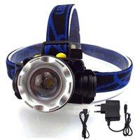 High Power XPe T6 LED-Scheinwerfer-Scheinwerfer-Frontkopf wiederaufladbare Lampe-Taschenlampe Light Night Lintrinterna Camping FishingR1-Scheinwerfer