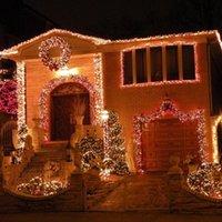 Оформление партии 8 цветов 96LED рождественские открытый светодиодный светильник 4M * 0,6 м Drop Fairy занавес сосульки 110 В / 220 В