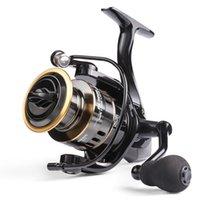 Angelrolle HE7000 Max Ziehen 10kg 5.21 Hochgeschwindigkeits-Metallspool Spinning Rolle Saltwater Reel Carp Fishing Wheela
