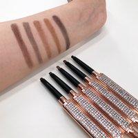 10 pçs / lote 2G profissional sobrancelha lápis 5 cores de longa duração à prova d 'água sobrancelha tatuagem lápis ferramentas cosméticas