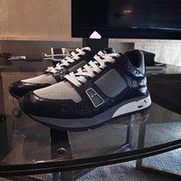 2021 MENS Trail Calfskin Sneaker Suela de goma Suela de cuero Mans Luxurys Designers Sneakers Trainers Corredor Cuero Cuero Old Shoes Z066