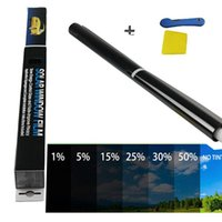 """Car Sunshade VLT 5% Uncut Roll 39"""" X 20 Auto Window Tint Film Charcoal Solar Glass Insulation Non-reflective Dyed"""