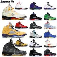 2021 AIR JORDAN 5 Retro shoes man woman Basketball shoes 5 5s white x Sail Black muslin grey what the oregon alternate bel pink foam light aqua GS women men sneakers