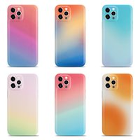 Gradient Colors Protective Cases For Iphone 12 MINI 11 Pro Xs MAX XR X 8 7 Plus SE2 Glossy Jelly Phone Case Back Cover 100pcs