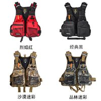 Life Vest & Buoy Universal Outdoor Swimming Boating Skiing Driving Survival Suit Polyester Jacket For Adult Kayaks Fishing