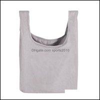 Storage Housekee Organization Home & Gardenstorage Bags Foldable Shop Bag Reusable Sundries Tote Portable Bento Lunch Box Pure Cotton Washab