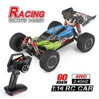 WLToys 144001 1/14 2.4G Racing RC Auto 4WD High Speed Fernbedienung Fahrzeugmodelle Spielzeug 60km / h Qualitätssicherung für Kinder Y200413