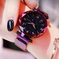 Дизайнерские часы Марка Часы Роскошные часы Женщины Магнитная сетка Ремень Женщин Модный Платье Запястье Зегарек Дамски