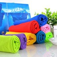 Novo Gelo Toalha Fria Single Layer Esportes Cool Rápido Refrigeração Seco Tecido Imprimir Algodão Beach Washwear EWD7688