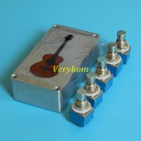 Smart Home Control 3PDT Stomp Pedal Foot Switch + 1590B Box Al,True Bypass Electric Bass Guitar Effect Push Button Switches Aluminum DIY