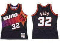 مخصص مخيط كرة السلة الفانيلة جيسون 32 kidd جيرسي ميتشل نيس 1999-00 الصلجات الكلاسيكية الرجعية الرجال النساء الشباب S-6XL ارتداء
