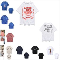 Wysokiej jakości Kanye Men T Shirt Pure Cotton New O-Neck Koszulka z krótkim rękawem Marka męska Sportowa męska Koszulka M-XXL