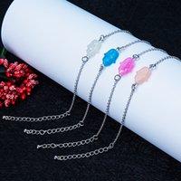 Newest Fashion Hamsa Hand Opal Bracelet for Women White Pink Blue Adjustable Size Chain Bracelets Elegant Jewelry Gift