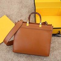 Luxurys Designer Handtaschen Abendtaschen Umhängetasche Hohe Qualität Shopping Leder Material Bernstein Doppelgriff Große Kapazitätsbrief