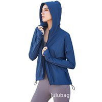 zipper Lulu 2021 new hooded fitness Jacket Women's Lulu casual loose running fitness yoga suit