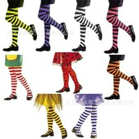 Navidad Halloween Cosplay Medias para niños Rayas de Rayas Moda Rayas Sangre Drop Long One Piece Pantyhose Party Deportes Grils Panty-Hose G993GFJ