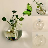 Glasvase Wand hängende hydroponische Terrarie-Fischtanks Topfpflanze Blumentopf Drop Ship-Vasen