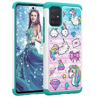 For Samsung A51 Case Hard PC Soft TPU Rugged Rubber Case Cover for Samsung Galaxy A71 A01 A20S A30S A50S