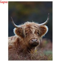Full Square Round Drill DIY Diamond Painting animal highland cow picture 3D Embroidery Cross Stitch 5D mosaic Home Decoration