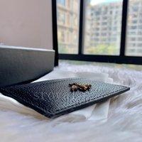 Titulaires de luxe lumineux Haute Qualité Dame Porte-monnaie Short Oman Mini Portefeuille Caviar Caviar Card Carte de crédit Clip Hommes Femmes titulaires de la carte Véritable porte-tuerie avec boîte