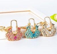 50 قطع الإبداعية الكامل الماس فراشة حقيبة المفاتيح الماس المعادن مفتاح سلسلة حقيبة يد شكل قلادة حقيبة المعلقات سحر النساء hys07-1-8