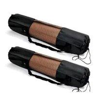 1PC 블랙 휴대용 요가 매트 운동 피트니스 캐리어 나일론 메쉬 센터 조정 가능한 스트랩 필라테스 조정 가능한 스포츠 운반 가방