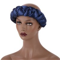 dhl ship Exaggerated big satin sponge headband can be equipped with a turban, fashion decorative hair accessories, sponge twist braids