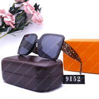 Mit Box Sonnenbrillen für Frauen Herren Designer Sonnenbrille Womens Designer Gläser Luxusdesigner Gläser UV-Beweis 2104242L