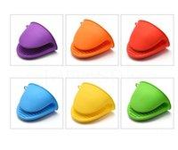 Luva de silicone clipe bolo bakeware resistente ao calor antiderrapante clipes de mão conveniente forno microondas mitt db905