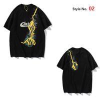 2021 Mens T Gömlek Yaz Yüksek Kaliteli Erkekler Stilisti Tshirt Hip Hop Kadınlar Siyah Kısa Kollu Tees Kutusu