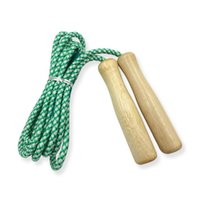 Jump Ropes Sports Skipping Rope Wood Grip Handle Children Kid Fitness Equipment Training Practice Speed Random Color