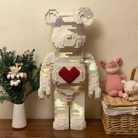 Dewu net red love violence brick building block bear model small particle adult DIY puzzle decoration 001-1