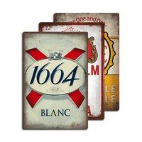 V13 Peinture, Panneau de métal personnalisé rétro de la boutique de bière européenne Barre d'impression de la boutique à la maison 20cm * 30cm