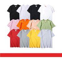 Lettere da uomo T-shirt da ricamo T-shirt Fashion Boys Hiphop T-Shirt Casual Womens Streetwear Tops 12 colori per il tee unisex all'ingrosso con motivi