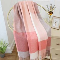Cachecol de inverno Tartan xadrez lenço pashmina novo desenhista cachecol lenço de luxo lenços e envoltórios 190cm mma2671