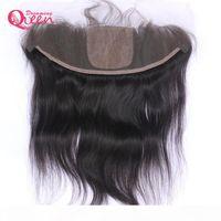 Бразильские прямые волосы шелковые базовые кружева лобное закрытие девственницы человеческие волосы скрытые узлы кружева с младенцем волос 13x4 ухо до уха натуральные волосы