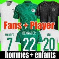 2020 2021 Camisa de futebol da Argélia MAHREZ FEGHOULI BENNACER ATAL 20 21 Camisa de kits de futebol de futebol da Argélia Fãs jogadores versão masculina e infantil