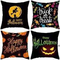 24 colors decorative pillow covers for christmas Halloween pillows home gift sofa leaning fleece pillowcase Cushion Textiles HWB10430