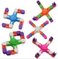 Детские взрослые ID Didget Toys Wacky Tracks Decompression Toy Finger Edgets Spinner Bracte Bracte велосипедная цепочка