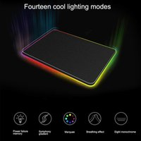 Mouse Pads & Wrist Rests 900*400 Large RGB Pad Gamer Mat Locked LED Lighting Rubber Gaming Mousepad Anti-slip For Computer PC Mice