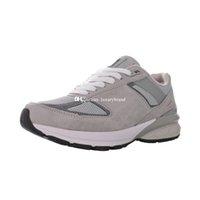 M990v5 sneaker para homens 990v5 sneakers homens running shoes mulheres reflexivas sapato esportivo treinadores de mulheres treinamento atlético Chaussures cinza